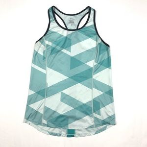 NIKE DRI-FIT Racer Back Tank Top Geometric